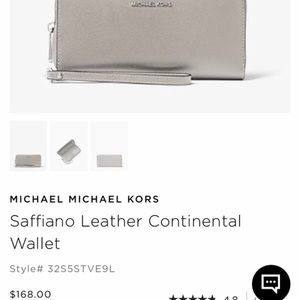 NWT Michael Kors Saffiano Leather Wallet